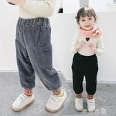 兒童燈芯絨加絨褲子冬裝韓版男女童休閑外穿長褲洋氣寶寶哈倫棉褲 交換禮物