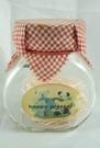 【震撼精品百貨】日本泰迪熊 ~ 玻璃置物罐『紅格紋』