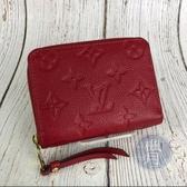 BRAND楓月 LOUIS VUITTON LV M63696 紅色 原花 皮革 拉鍊 零錢包 錢包 小包
