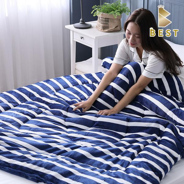 超激厚法蘭絨暖暖被 台灣製 150x200cm 法蘭絨毯被 法萊絨 棉被 冬被 BEST寢飾 F1