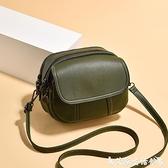斜背小包 迷你小包包女新款時尚復古簡約百搭小圓包側背斜背軟皮女包 艾家