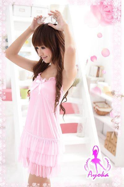 星光密碼【C045】澎澎裙襬輕柔絲緞睡衣性感睡衣