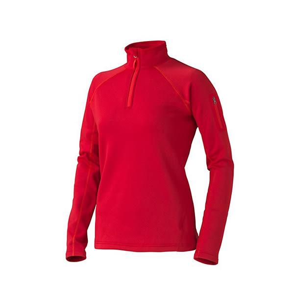 [Marmot] Stretch Fleece (女) 彈性保暖半門襟 紅 (M89610-6278)