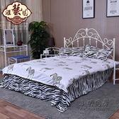 鐵藝床鐵床雙人床單人床簡易鋼木床宿舍床鐵架床1.2*1.5米 igo 全館免運