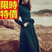 風衣大衣 長版-魅力日韓保暖羊毛風衣女毛呢外套2色62v5【巴黎精品】