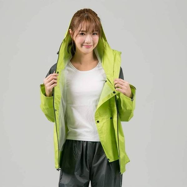 君邁雨衣,犀力兩件式風雨衣,草黃