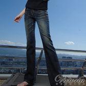 ★牛仔特惠3折起★Victoria舒適型靴型褲-女-中深藍