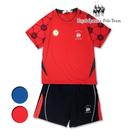 足球印花吸濕排汗涼感運動服套裝 足球服 RQ POLO  中大童夏季 [2102]