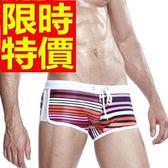 四角泳褲-溫泉個性百搭運動型男平口褲56d99[時尚巴黎]