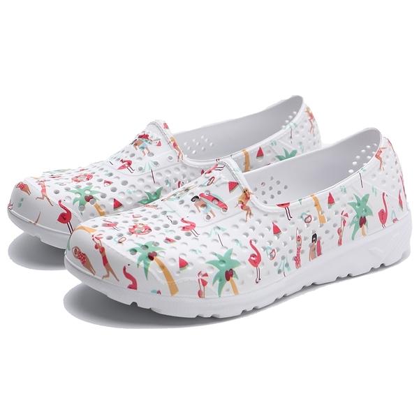 PONY TROPIC 水鞋 夏威夷風 雨鞋 防水 白彩 中童 (布魯克林) 02K1SA08MO