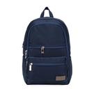 【南紡購物中心】J II 後背包-極限休閒雙拉鍊後背包-深藍色-6366-2