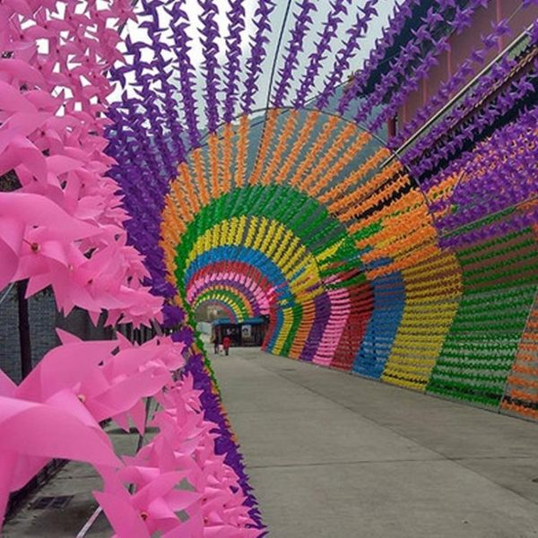 塑料風車串幼兒園小風車