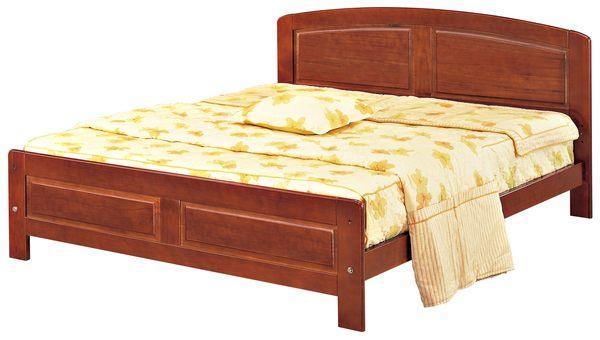 【森可家居】歌麗雅5尺柚木色實木雙人床 7JX72-3 床架 無印北歐風
