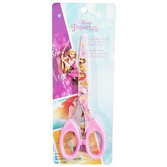 〔小禮堂〕迪士尼 公主 不鏽鋼剪刀《粉.城堡》美術剪.事務剪 4580468-27066