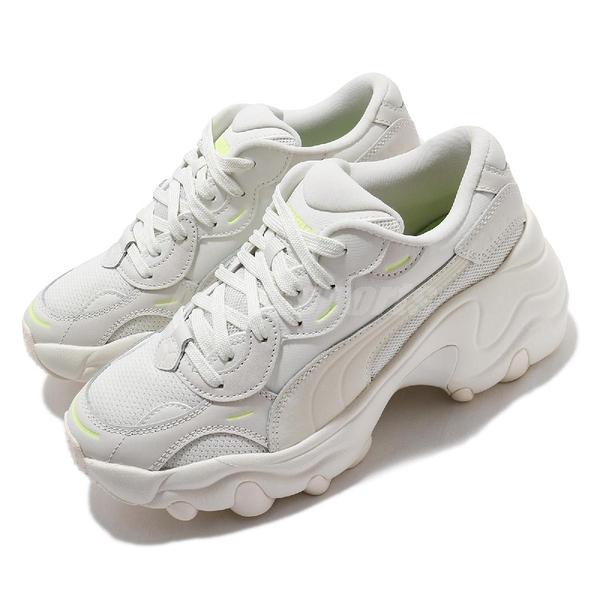 Puma 休閒鞋 Pulsar Wedge Tonal Wns 白 黃 女鞋 蔡依林 Jolin 著用款 增高 厚底 運動鞋 【ACS】 37482202