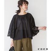 罩衫 扇形蕾絲袖 『Liniere』6月號刊載Market【coen】