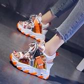 羅馬涼鞋女ins厚底鬆糕2021夏季新款網紅仙女風內增高超火高跟鞋【快速出貨】