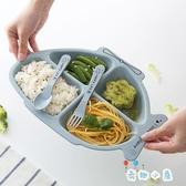 可愛卡通造型餐盤兒童餐具套裝小麥分格盤飯盤碗勺叉【奇趣小屋】