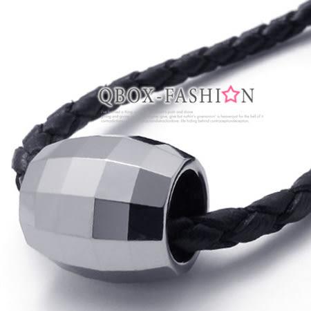 《 QBOX 》FASHION 飾品【C10020993】精緻個性鑽石鏡面幸運珠鎢鋼墬子項鍊鍊(型男專用)