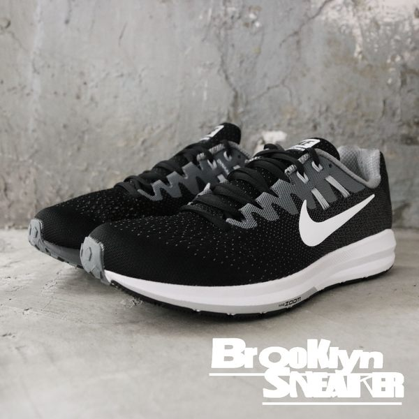 NIKE W AIR ZOOM STRUCTURE 20 黑灰 網布 女(布魯克林) 849577-003