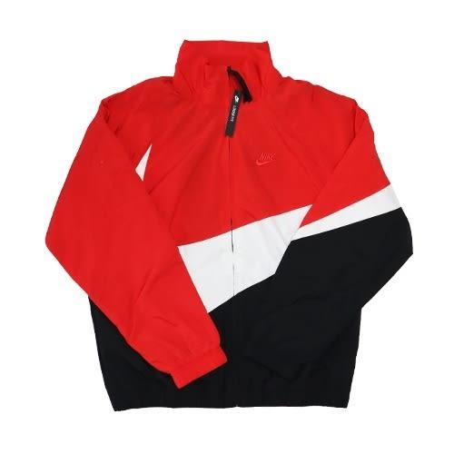 【現貨折後價$2399】 NIKE NSW Jacket 男裝 紅 黑白 運動休閒 風衣 立領外套 AR3133-657