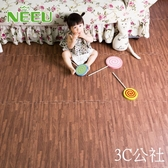 家用仿木紋泡沫拼接地墊臥室兒童拼圖防水隔音地板墊子60x60YYP  3C公社