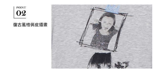MUBI俏皮女孩插畫短袖上衣-兩色41-3992-(11.71)