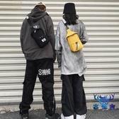 側背胸包斜背包男包包運動小背包挎包潮個性創意時尚【古怪舍】
