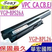 SONY BPS26 電池(保固最久)-索尼 VPCCB,VPCEJ,VPCEL,VPC-CA1SLE/W ,VPC-CA17EC,VPC-CA190,VGP-BPS26