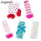 造型襪套 女寶寶 繽紛亮眼 護膝套 嬰兒襪套 爬行套 護腿襪套 Augelute 21613