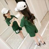 女童夏裝套新款韓版兒童純棉短袖T恤短褲女孩運動兩件套裝
