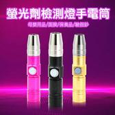 【妃凡】螢光劑檢測燈手電筒 365nm 紫手電筒 USB 螢光劑 檢測燈 驗鈔 玉石 面膜 256