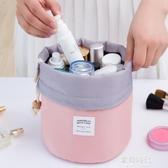 韓版大容量圓筒式大容量旅行洗漱包旅游女士化妝包 歐韓時代