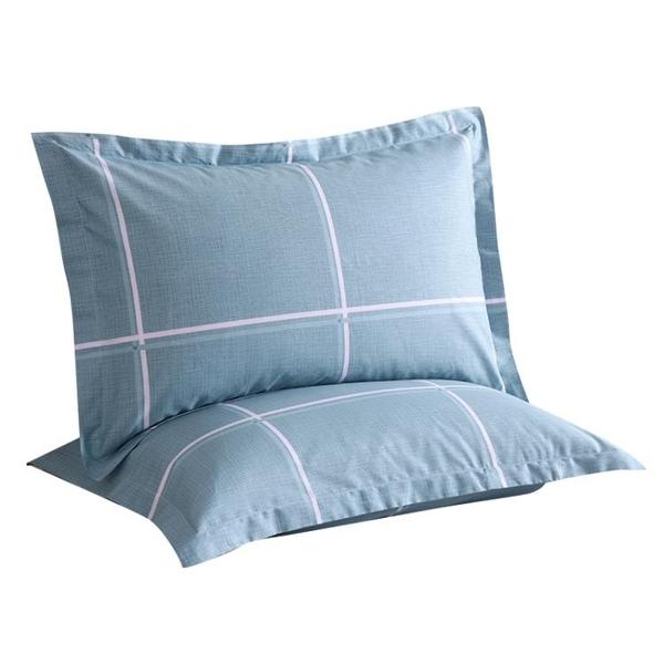 一對裝全棉枕套純棉枕頭套單人成人大號忱套家用【倪醬小鋪】