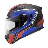 [東門城] ZEUS ZS813  AN12 消光黑紅藍 全罩式安全帽 內藏式鏡片 內襯全可拆洗