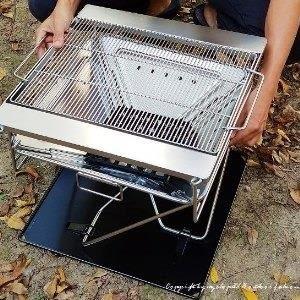 ♥巨安網購♥【107012406】大型摺疊收納焚火台 烤肉架