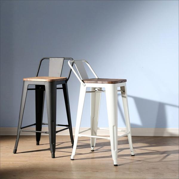 《百嘉美》LOFT復古風工業風榆木低背吧台椅/餐椅 (2色可選)  衣櫃 電器架