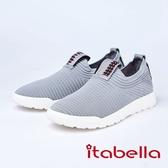 itabella.造型編織休閒鞋(8561-85灰色)