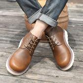 男短靴 男靴子 男英倫男靴工裝靴軍靴內增高真皮潮男士高幫男鞋馬丁靴《印象精品》q1418