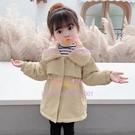 女童加絨外套韓版寶寶加厚風衣中小童洋氣長款外套潮【聚可愛】