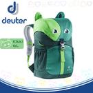 【Deuter 德國 Kikki 6L 動物造型輕量透氣兒童背包《綠/深綠》】3610519/雙肩背包/後背包/上學
