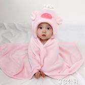 兒童披風 嬰兒披風秋季男女寶寶卡通斗篷0-1歲新生兒抱被可愛洋氣外出披風 3C公社