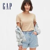 Gap女裝棉質舒適圓領短袖T恤539481-新沙色