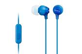 SONY MDR-EX15AP (藍色) SmartPhone 智慧型手機專用 入耳式耳機附通話麥克風