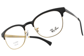 RayBan 光學眼鏡 RB6317 2833 (霧黑-霧金) 質感眉框款 # 金橘眼鏡