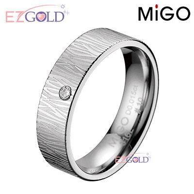 MiGO鋼飾♥柔情♥鋼飾鑽石戒指(女)