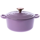 HOLA Amour亞莫鑄鐵琺瑯湯鍋 20cm 藍鈴紫 2.5L