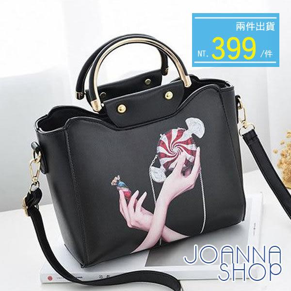 手提包 梵妮塗鴉個性手提包-Joanna Shop
