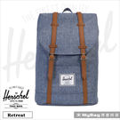 Herschel 後背包 藍色布蕾 15吋休閒電腦後背包 Retreat-1570 MyBag得意時袋