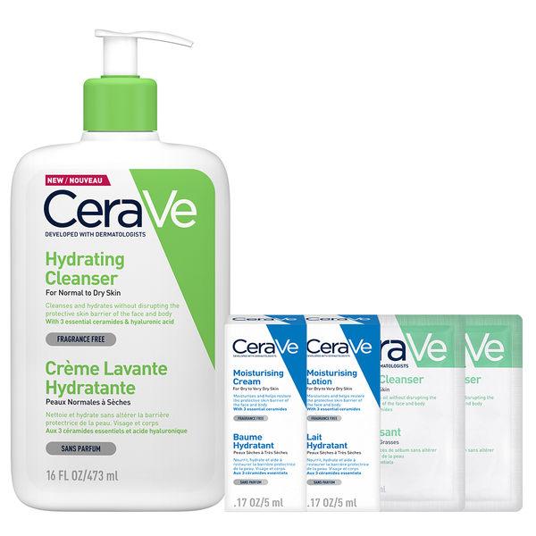 CeraVe適樂膚 輕柔保濕潔膚露473ML 洗護超值組